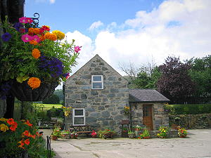 view of this self catering holiday cottage near conwy in north wales