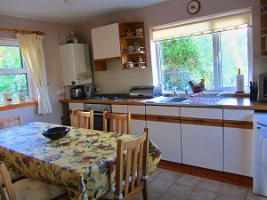 self catering kitchen and dining area